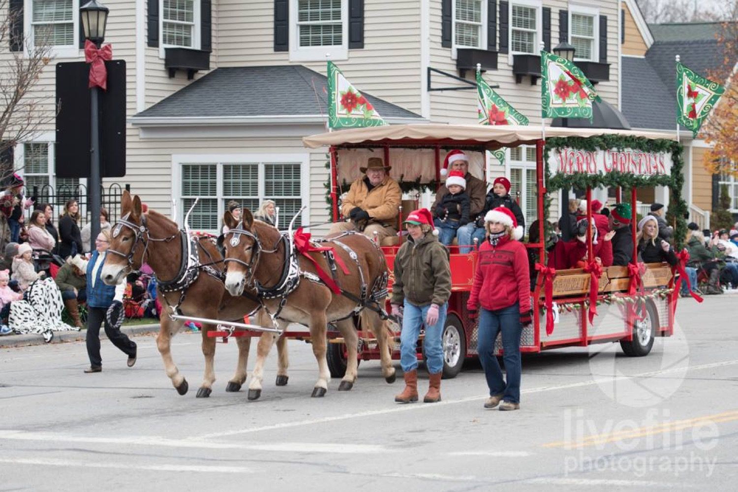 Highlights of Lebanon's holiday event calendar include a ride on the North Pole Express with Santa, a live nativity, dinner at the Golden Lamb, and a rendition of Charlie Brown Christmas. / Image: Curt McAdams{ }