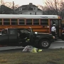 Two injured in crash involving school bus