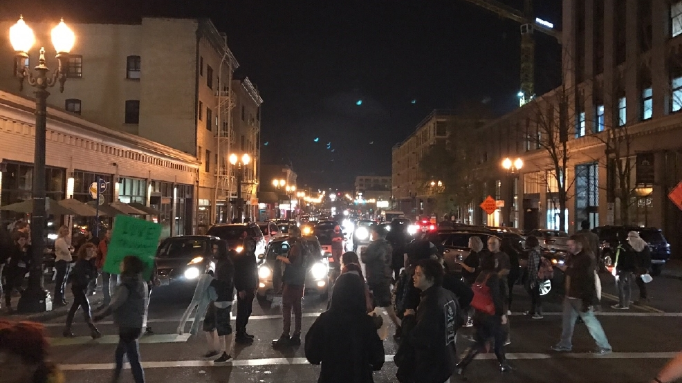 Protests set to continue thursday meeting point set for Mercedes benz downtown portland