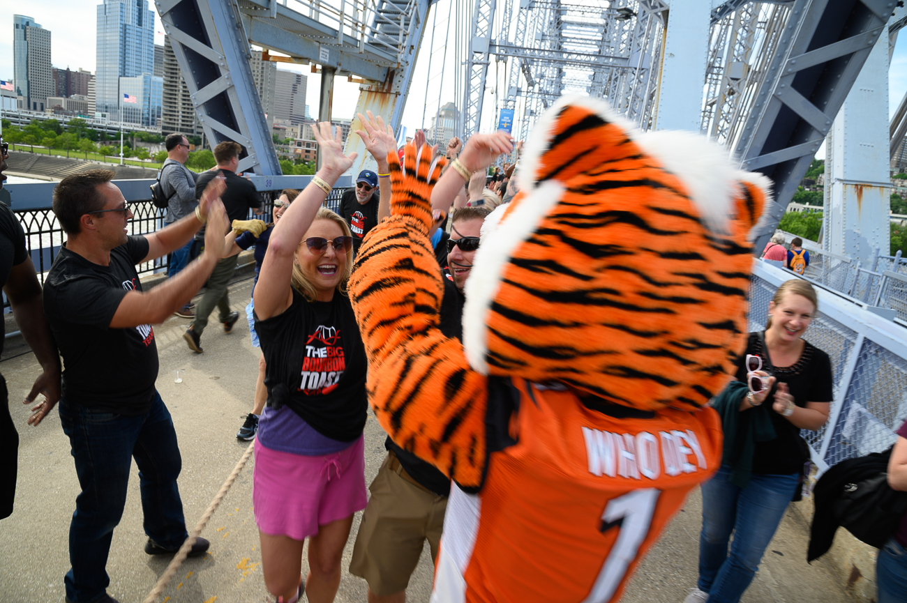 """YEAH! HIGH FIVE ME AND MY WINNING OPPOSABLE THUMBS, JANICE!"" -Who Dey / Image: Phil Armstrong // Published: 6.14.19"