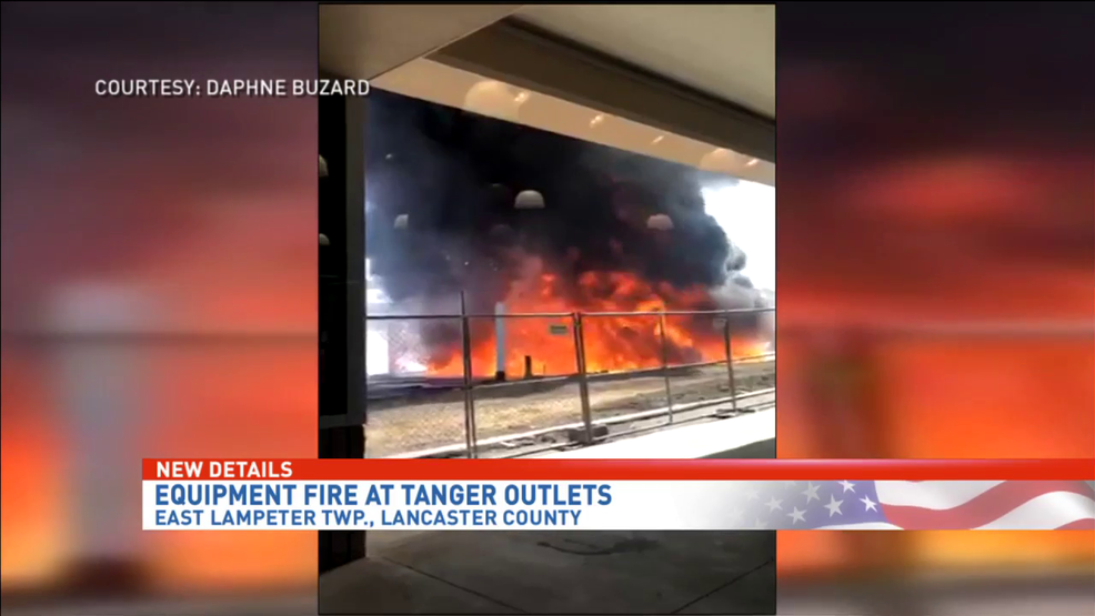Large fire at Tanger Outlets in Lancaster | WHP