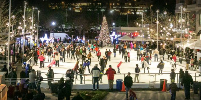 This is the largest outdoor rink in Northern Virginia{ } (Image: Courtesy Pentagon Row)