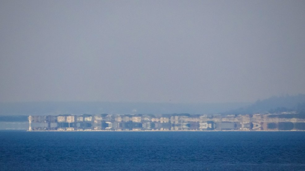 It's a mirage! Photo shows homes stacked atop each other on Whidbey Island