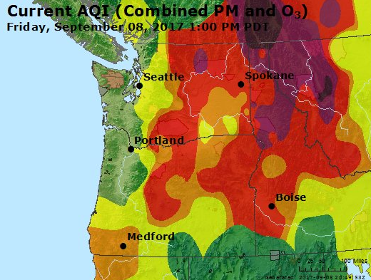 AQI Readings, Airnow.gov