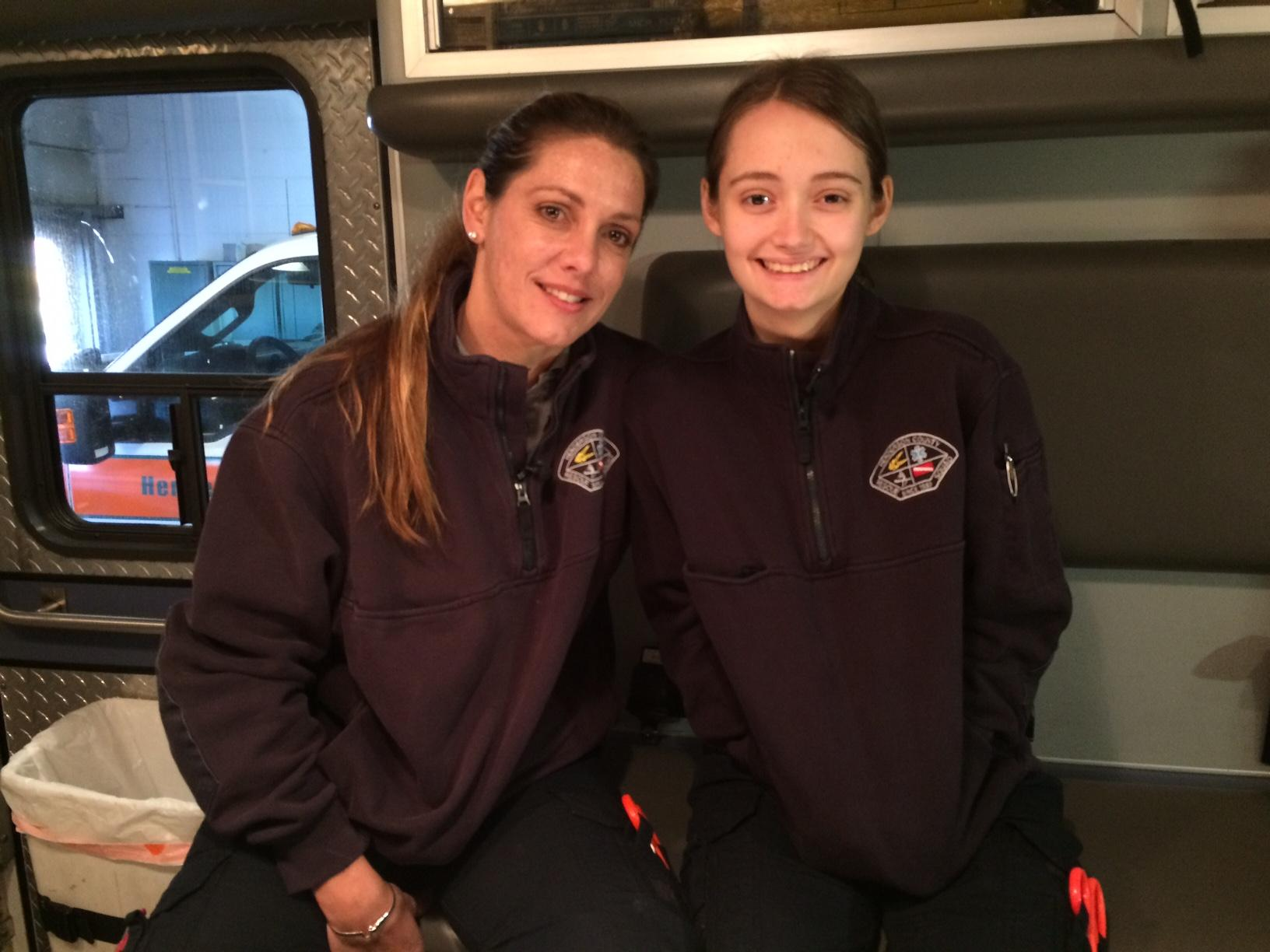 Alex is currently an emergency medical technician, pursuing advanced training. Her daughter, Zoe, joined the squad as a volunteer member two years ago, when she was just 15. (Photo Credit: WLOS Staff).