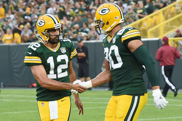 Rodgers said the contract extension gives him more clout and respect among his teammates.{ }