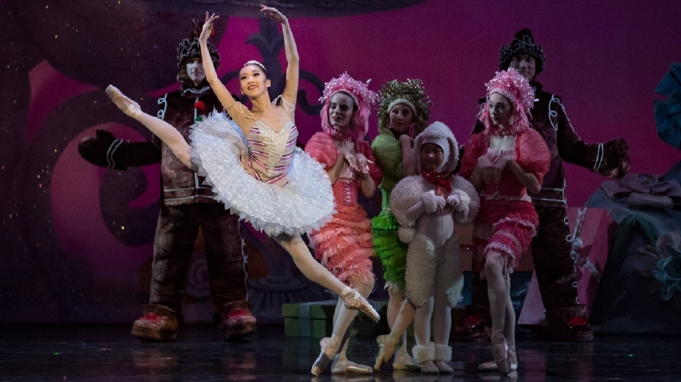 10: Cincinnati Ballet Soloist Chisako Oga (in foreground) as Sugar Plum Fairy in Cincinnati Ballet's The Nutcracker; photo by Peter Mueller.   .jpg