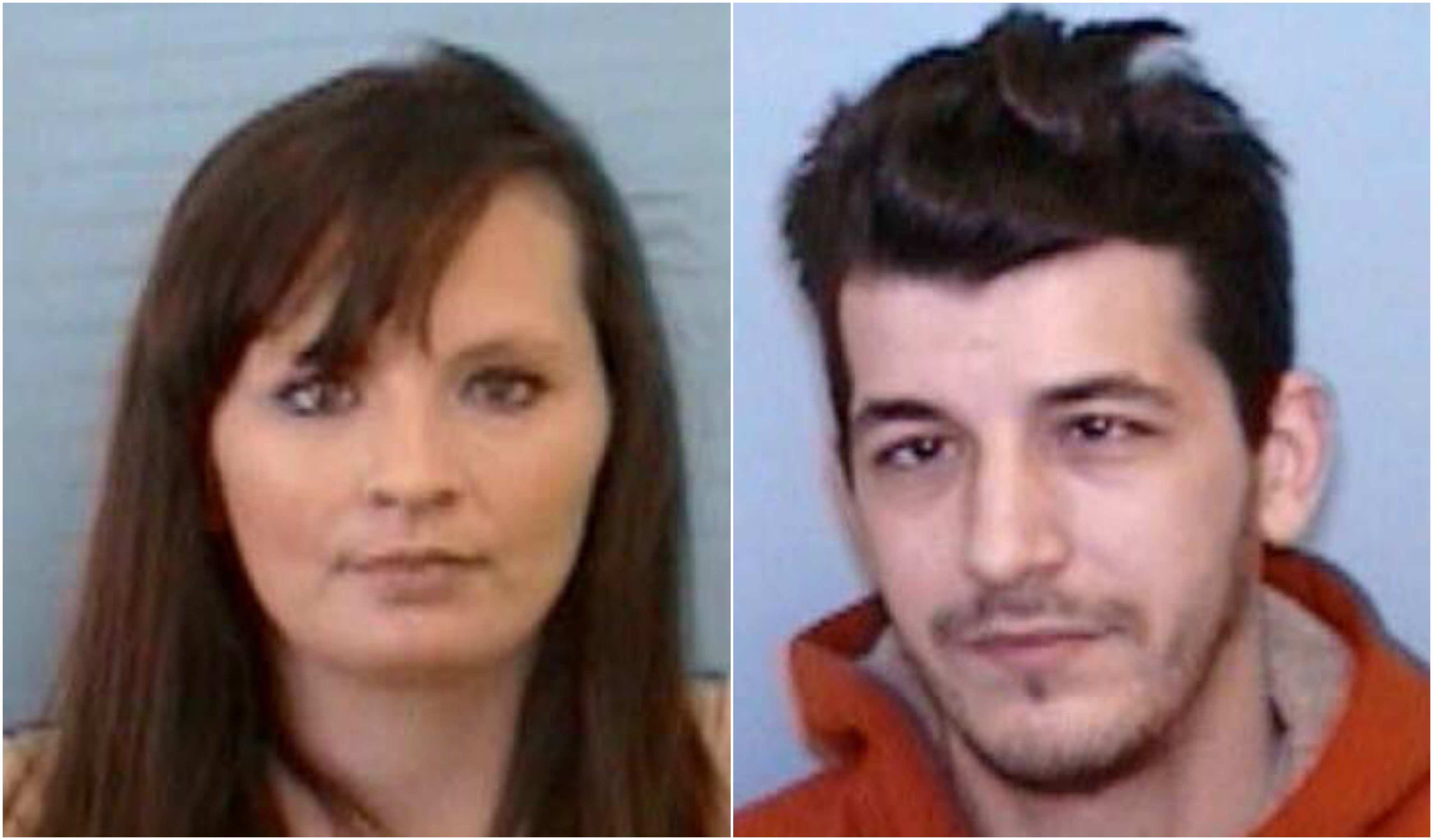 Frank Viola Jr., 36, and wife Brandy Danielle Tipton, 36, were charged with felony neglect of a disabled adult after officers found 66-year-old Anita Tipton with maggots in her hair and covered in human feces. (Photo credit: Mitchell County Sheriff's Office)