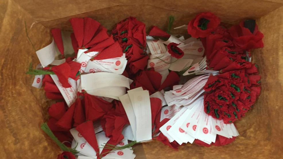 Red Poppies Handed Out By Local American Legion Auxiliaries But