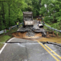 Road collapse leads to closures following flooding in Washington County, Maryland