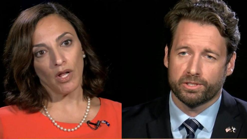 Katie Arrington [L], Joe Cunningham confident for 1st Congressional District debate (WCIV).jpg