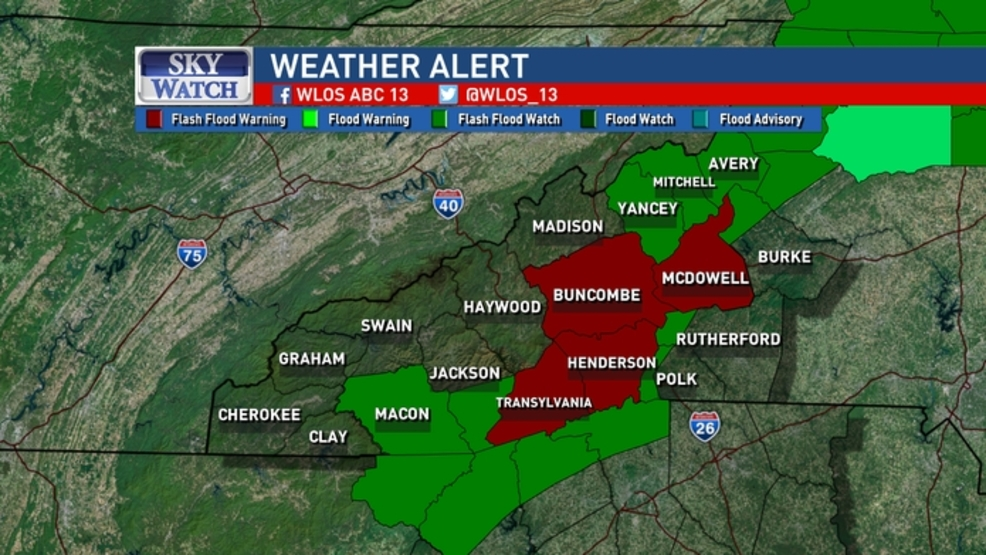 Flash Flood Warnings issued for parts of Western North ...