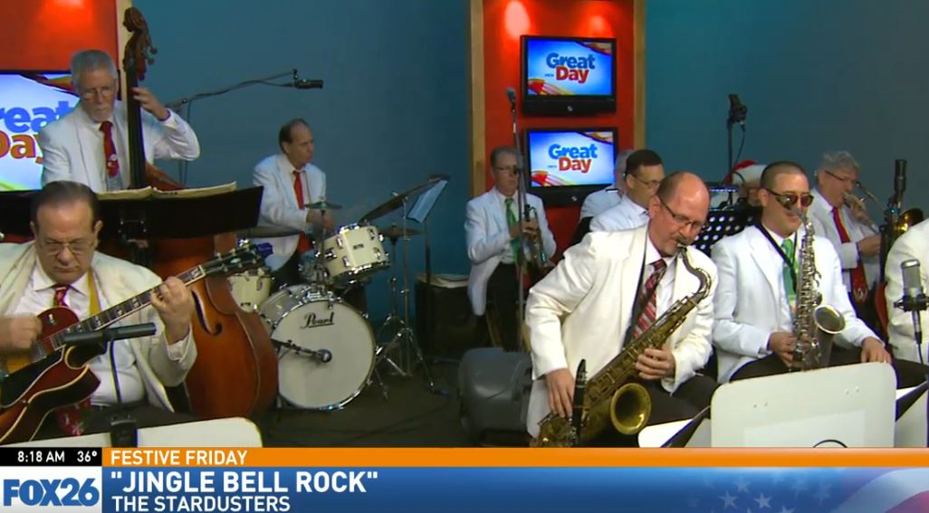 The local Big Band, The Stardusters, perform some great holiday classics for Festive Friday