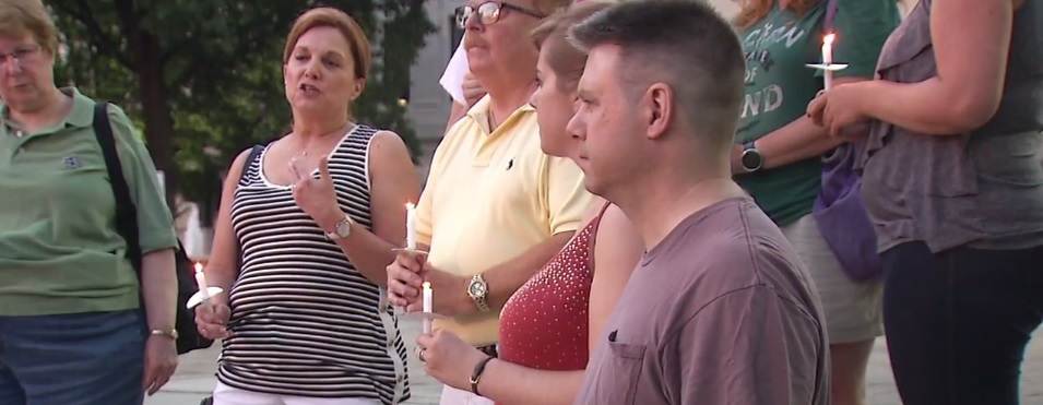 Some people stepped forward at a vigil Saturday, June 25, 2016 at the West Virginia Capitol to speak about those who were killed in the floods. (WCHS/WVAH)