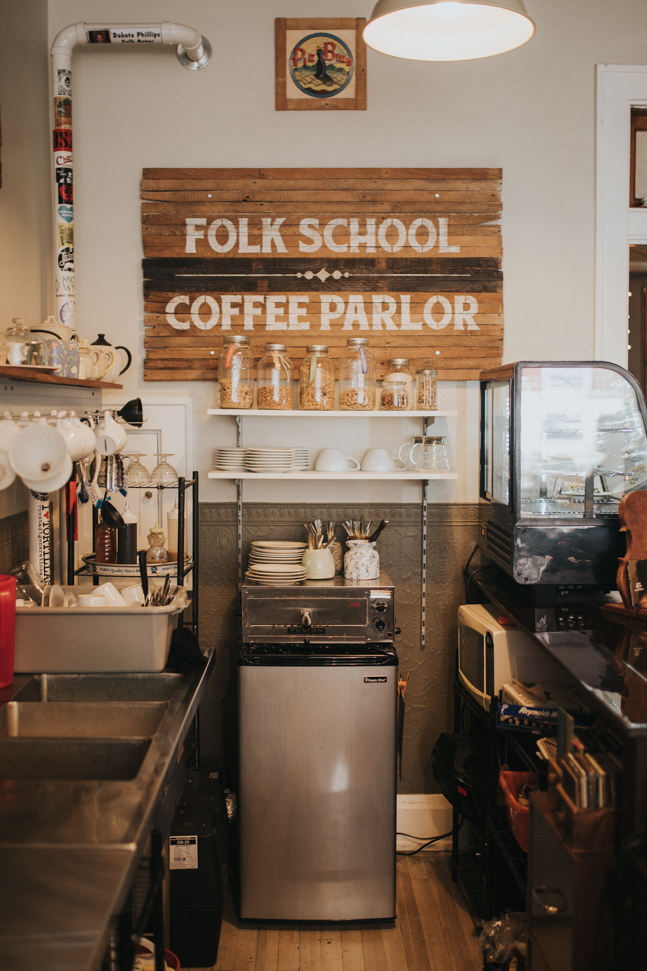 Folk School Coffee brews Deeper Roots coffee, which is based in Cincinnati. / Image: Brianna Long // Published: 3.17.17