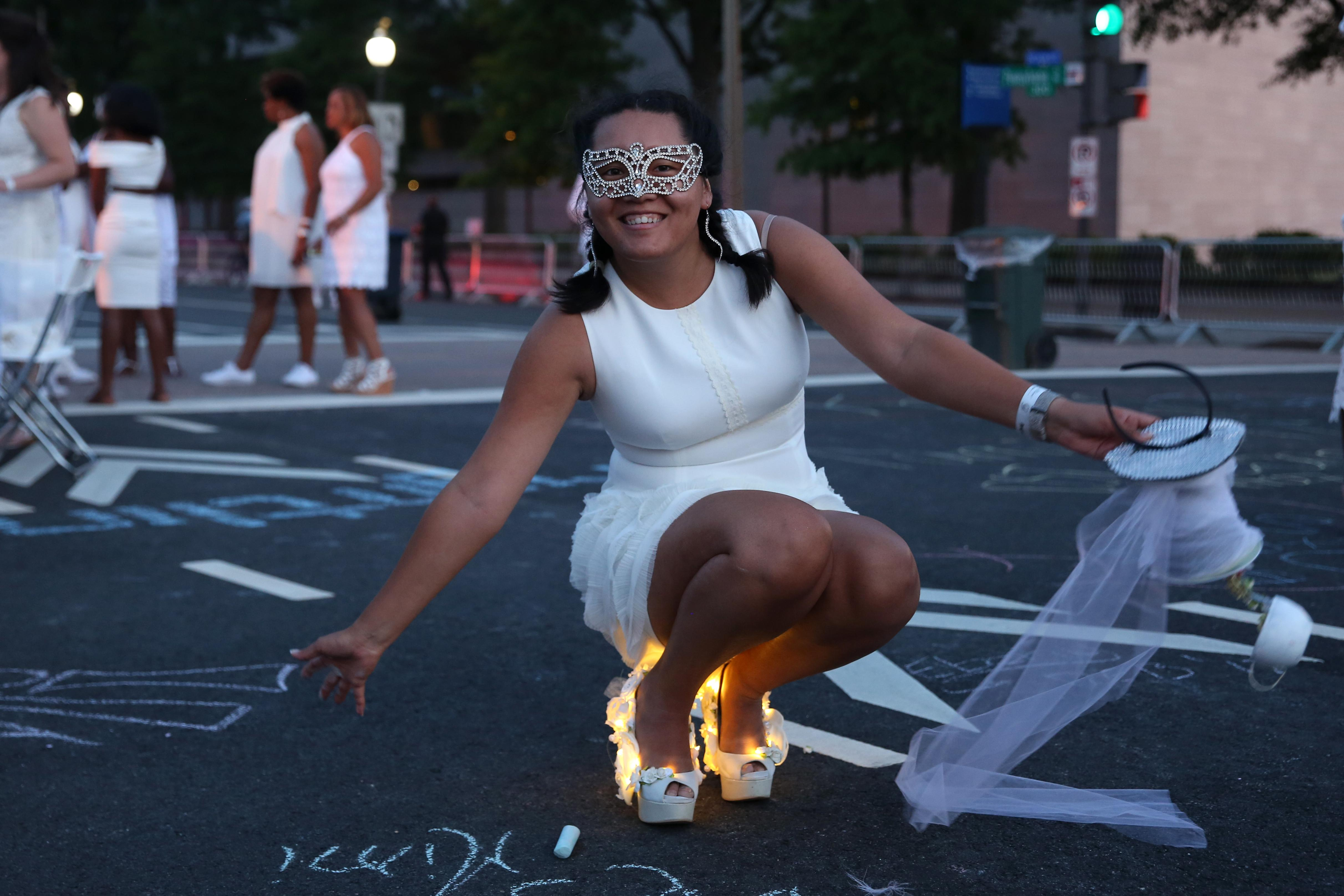 Cierra Roach's heels were out of this world at Diner en Blanc. (Amanda Andrade-Rhoades/DC Refined)<p></p>