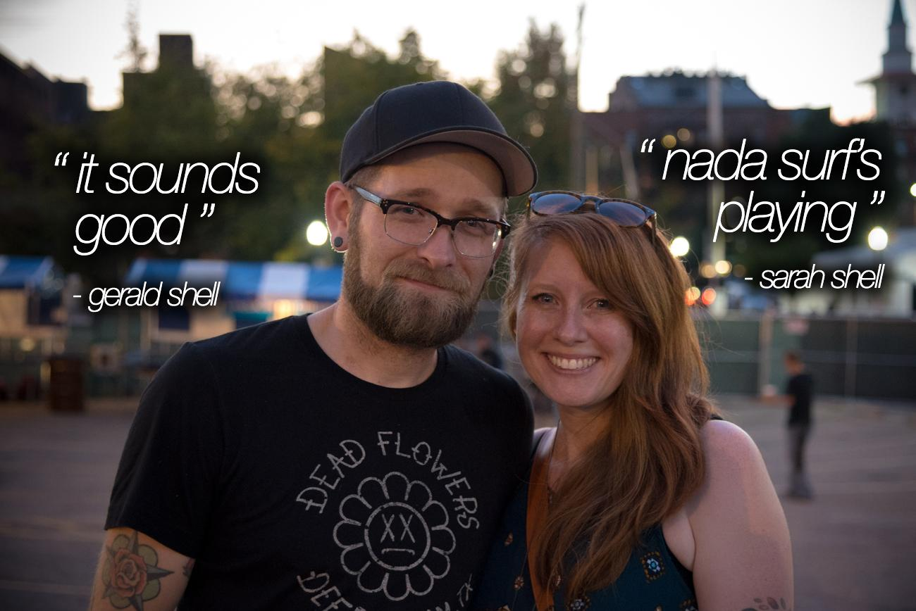 """It Sounds Good"" - Gerald Shell, ""Nada Surf's Playing"" - Sarah Shell / Image: Phil Armstrong, Cincinnati Refined"