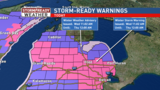 Winter Storm Warning for Wednesday