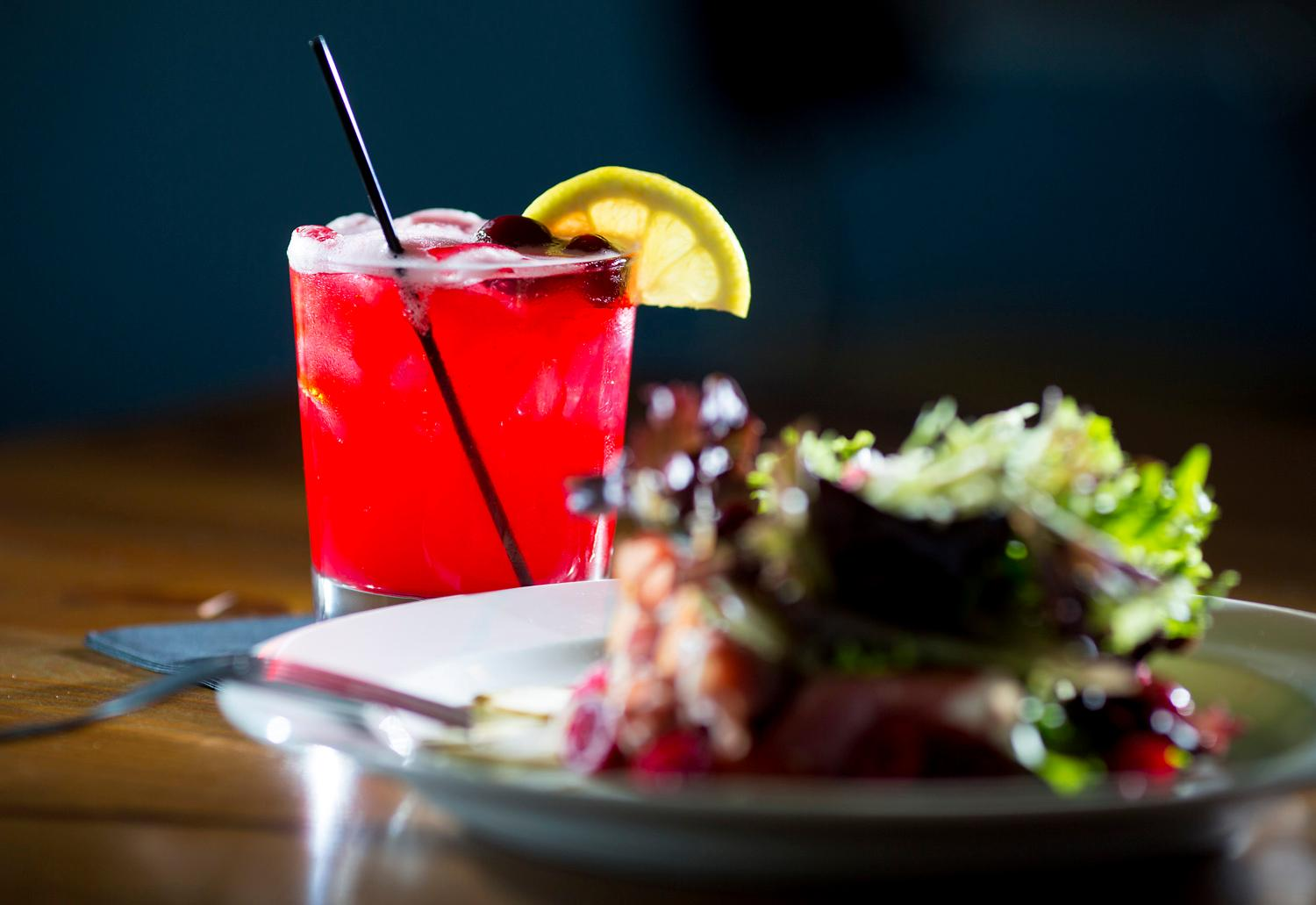 The Starvation Alley Sour features the organic cranberries from the local farm at the Salt Hotel and Pub, located at 147 Howerton Ave, Ilwaco, WA. (Sy Bean / Seattle Refined)(Sy Bean / Seattle Refined)