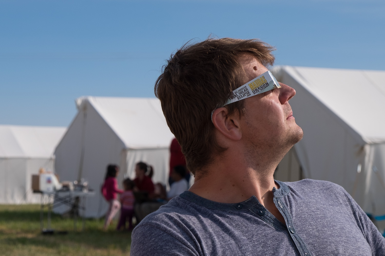 Eclipse glasses on! Oregon Solarfest (Image: Paola Thomas / Seattle Refined)