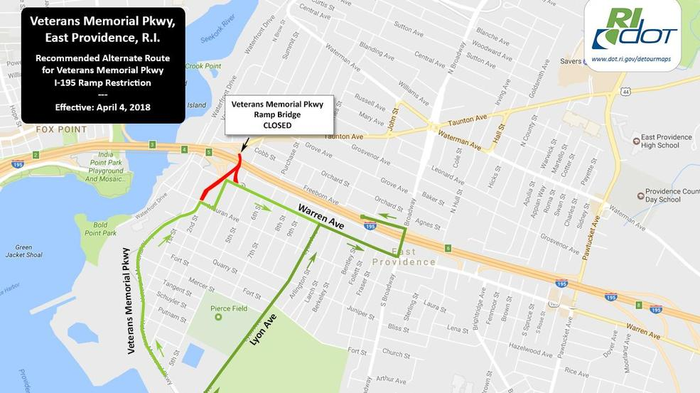 Ramps to I195 in East Providence closed WJAR