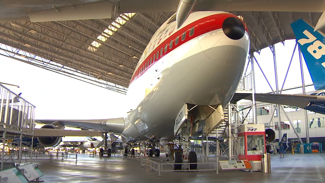 The prototype is now at the Museum of Flight. (Photo: KOMO News)<p></p>
