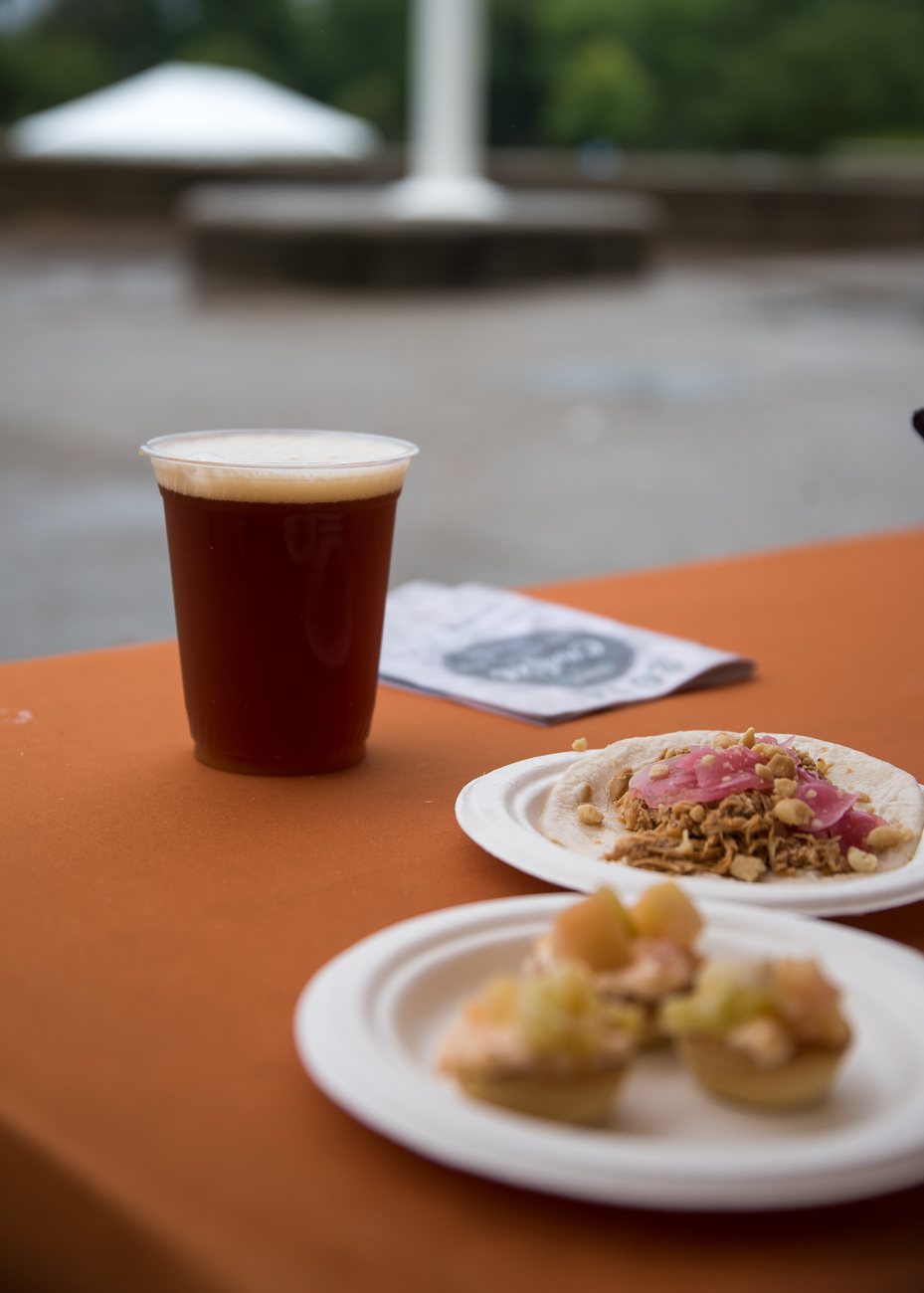 Chicken tacos and a Scotch Ale from the 50 West tent / Image: Amie Santavicca // Published: 7.22.18