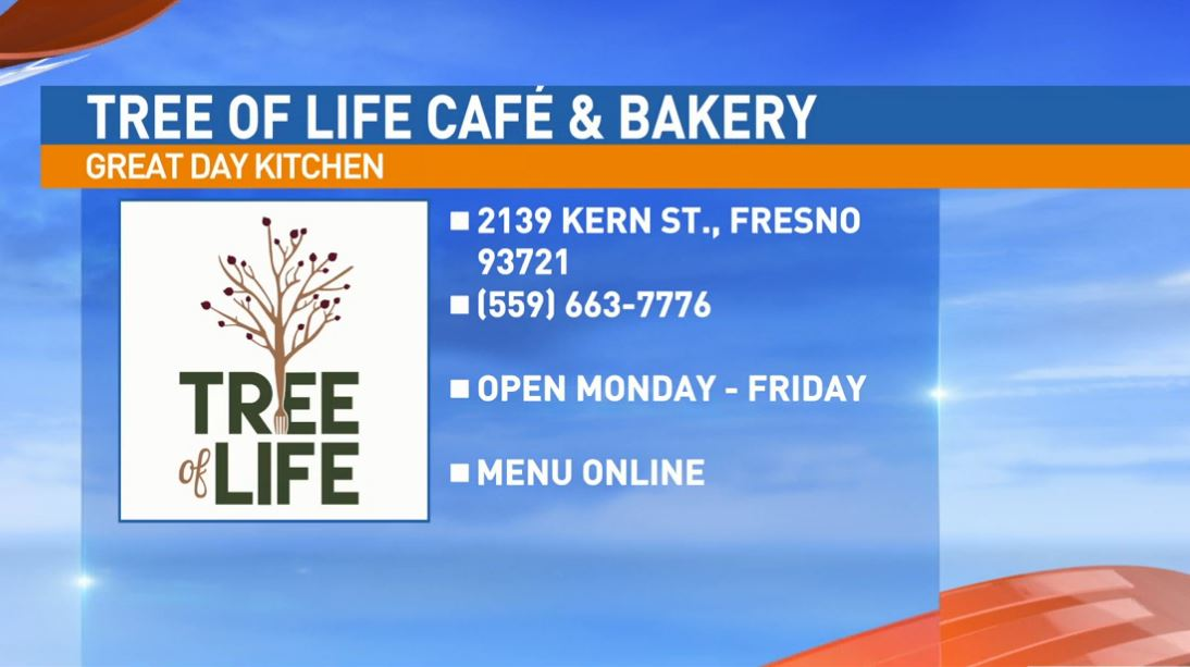 Tree of Life Café & Bakery is located at 2139 Kern St. in downtown Fresno