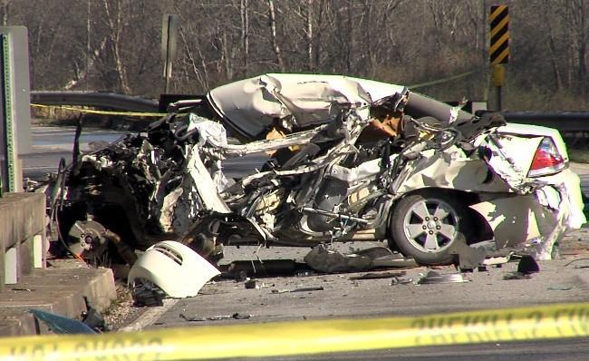 Two adults and a 7-year-old girl were injured after a Pell City school bus collided with a sedan near a bridge in St. Clair County on Friday, January 18, 2013.