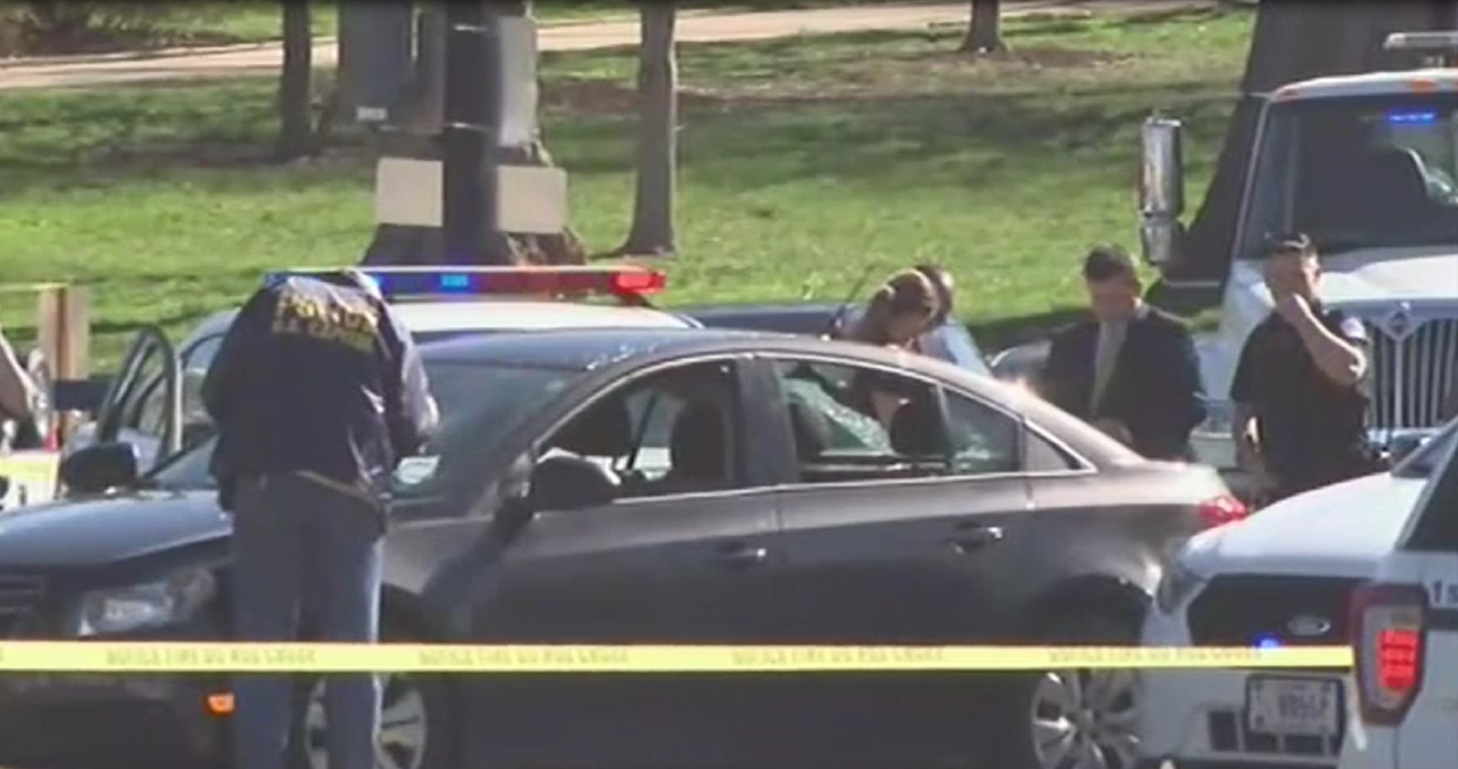 police open fire after suspect strikes police cruiser near rayburn police person in custody after driving car into capitol police cruiser abc7 photo