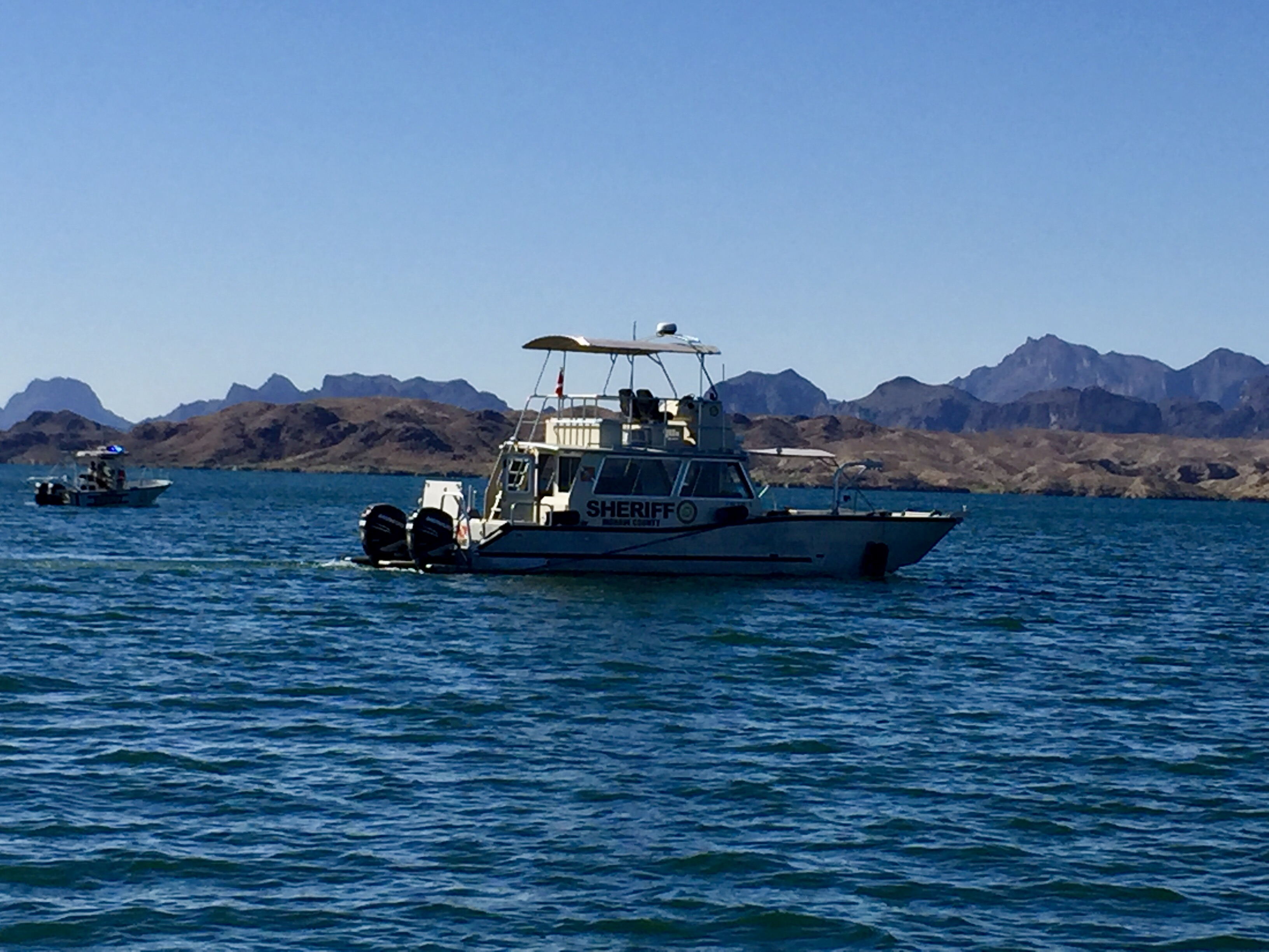 MCSO Boating Officers searching for missing female subject after a boat accident in Lake Havasu on June 10. (MCSO)