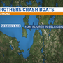 Brothers crash into each other on Sebago Lake