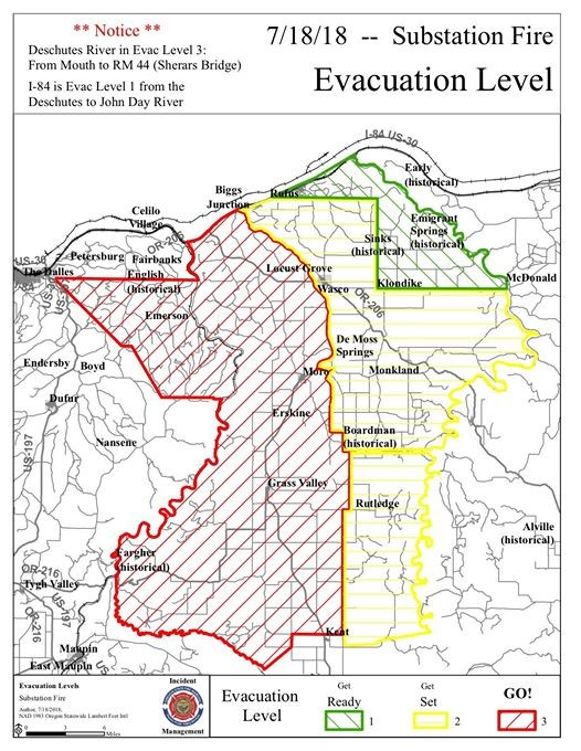 Substation Fire evacuation map as of 6PM Wednesday.jpg