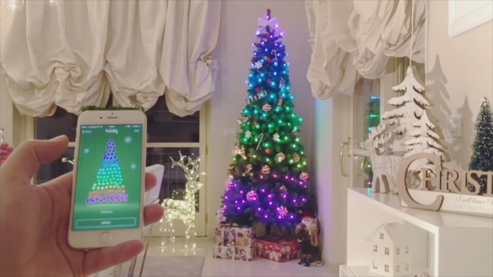 fancy christmas tree lights theres an app for that wjar - Fancy Christmas Tree