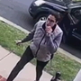Caught on camera: Porch pirate jumps out of car, steals package in seconds