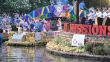 Thousands line Riverwalk for Texas Cavailers parade