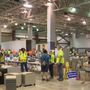 Disaster relief items for purchase at discounted prices at Ford Arena on Sunday