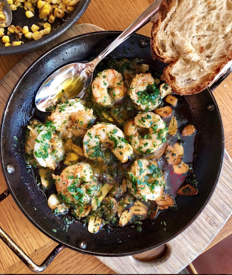 These shrimp are supposed to be a shared dish, but there's no 'I' in team. (Image via @the.localist.dc)