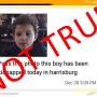 "FYI | Kidnapping alert spreading on social media for ""Harrisburg child"" NOT true"