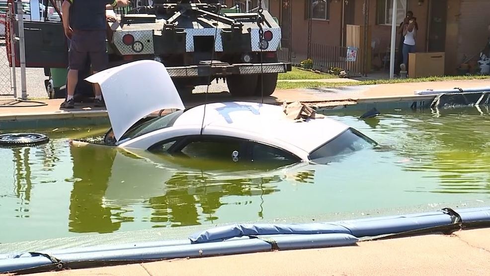 Man Left Trying To Explain How Car Ended Up In Swimming Pool Wtvc