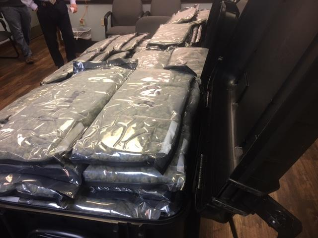 (image: WPMI) Baldwin County Sheriffs catch driver trying to mask 64 lbs of high grade weed with coffee