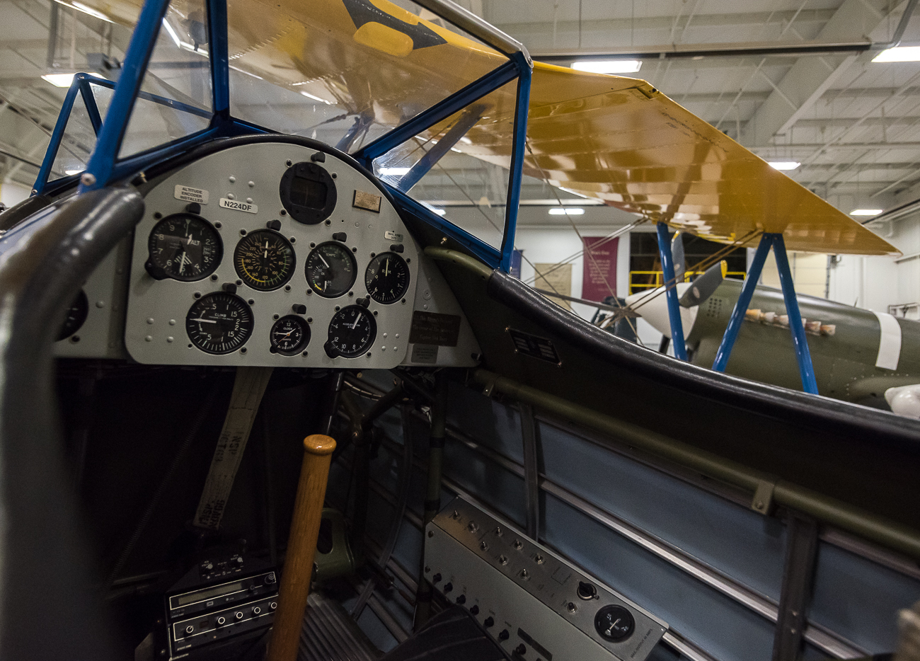 Cockpit of a PT-17 Steerman / Image: Phil Armstrong, Cincinnati Refined // Published: 9.6.17