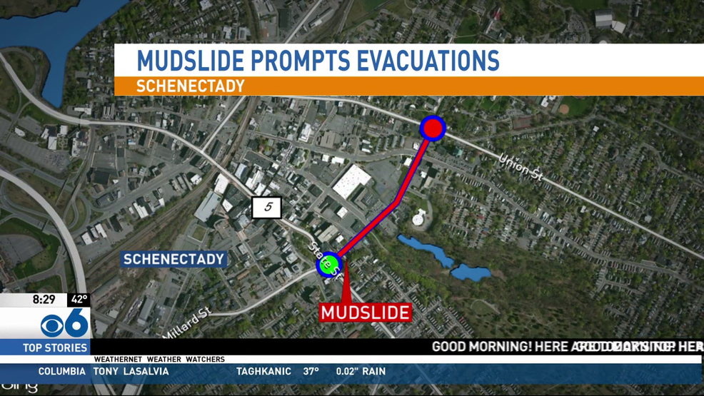Man rescued from Schenectady mudslide others evacuated overnight WRGB