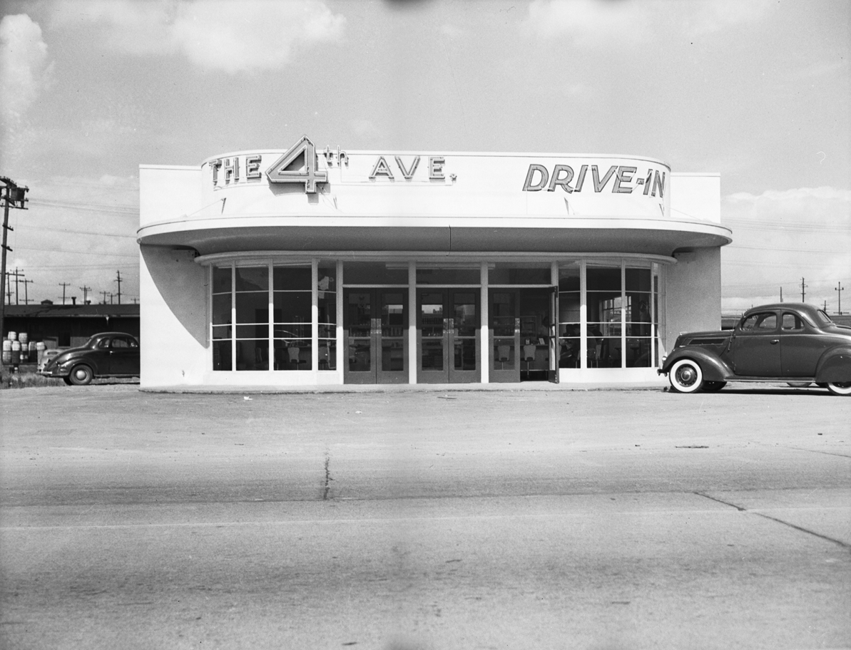 The 4th Ave. Diner was located on 2762 4th Ave S. Today it is home to a Denny's... pretty original, I know. (Image: Seattle Municipal Archives / flickr)