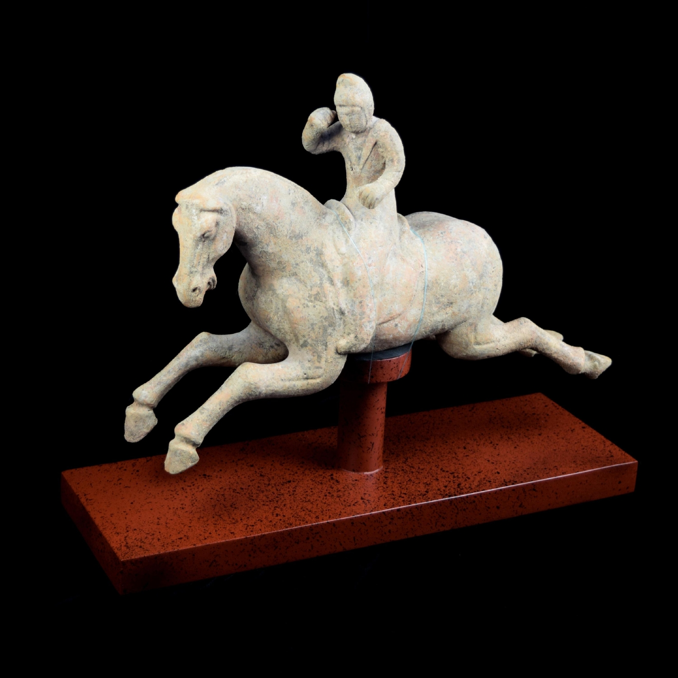Chinese Han Dynasty Horse and Rider on Custom Mount / Image courtesy of Everything But The House // Published: 10.15.16