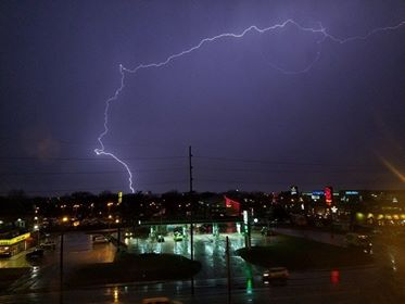Lightning in Nashville PHOTO: Jason Potts
