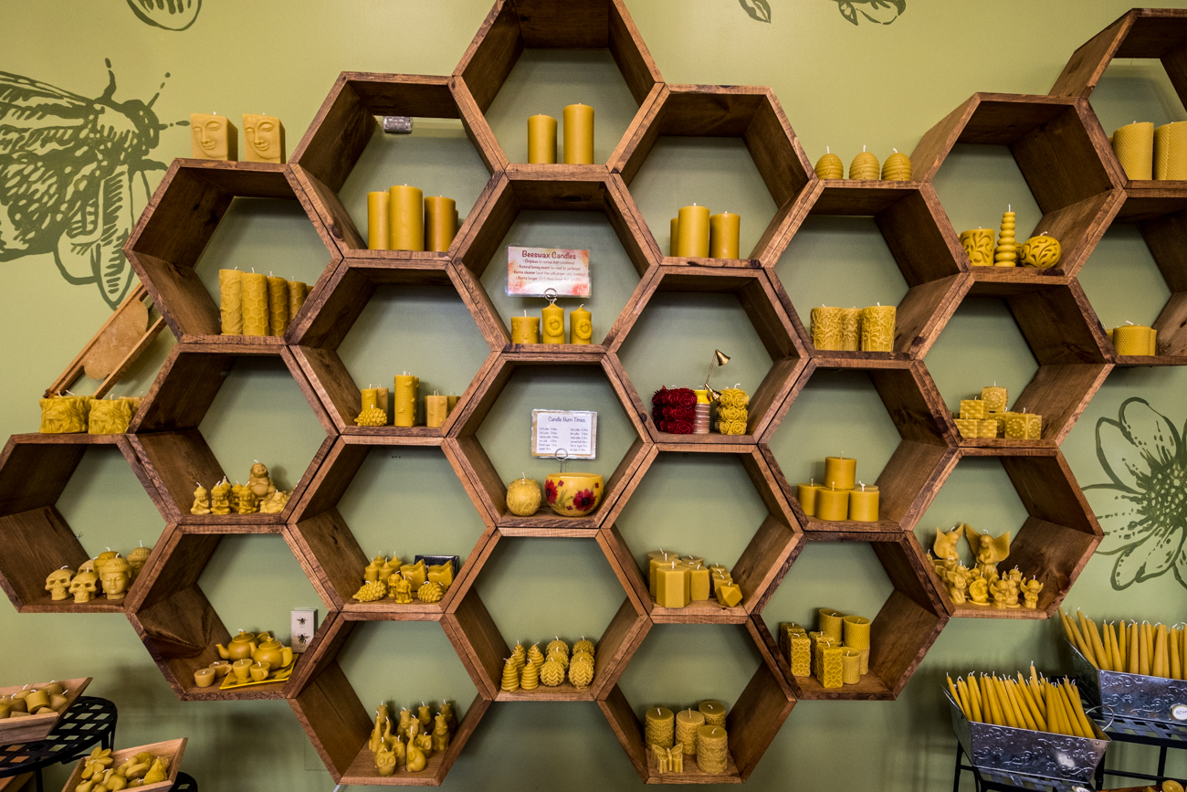 "There are ""City Bees"" and ""Country Bees"" from which the beekeeping family harvests honey. The city hives are located throughout Cincinnati and the country ones are kept up the river with friends and family in Clermont County. / Image: Catherine Viox // Published: 3.1.20"