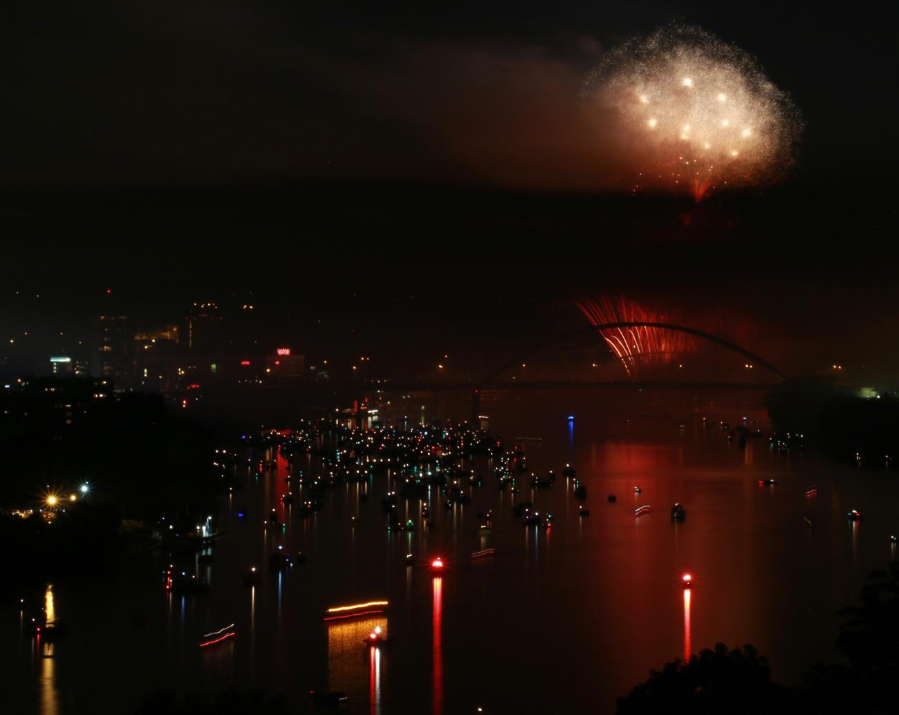 "The 41st annual Western & Southern/WEBN Riverfest fireworks illuminated the sky above the Ohio River on Sunday, September 3. Thousands filled the banks of the Ohio on both sides. The theme for this year's show was ""at the movies."" / Image: Leah Zipperstein, Cincinnati Refined // Published: 9.4.17"