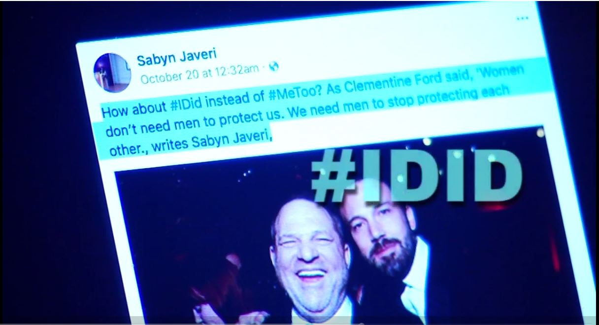<p>A new hashtag, #IDid, is emerging on Facebook and Twitter. It's being used by men and women confessing to past sexual encounters where they've crossed a line. (Image: WLOS)</p>