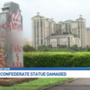 Monument with confederate ties vandalized in city cemetery